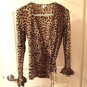 7cfea5e0c45f & Other Stories Tops | Other Stories Leopard Print Wrap Top | Poshmark